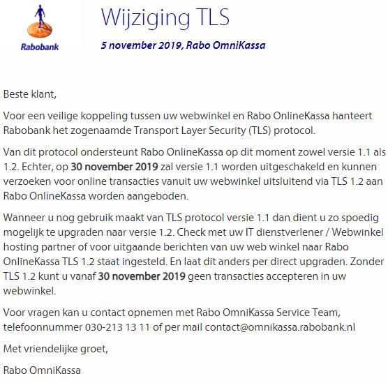 Rabobank TLS e-mail